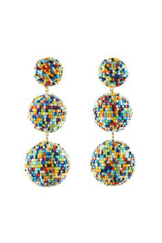 Add some color to any outfit with these confetti sprinkle all-around-fun earrings from Rebecca de Ravenel Gaya.