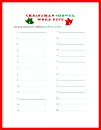Christmas Baby Shower Games - Elf name ice breaker | Holiday Baby ...