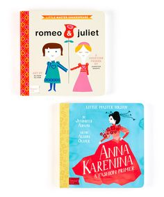 Cultivate a love for classic literature with this sweet set. Inspired byRomeo and Juliet and Anna Karenina, this darling duo is designed to help little ones learn to count and discover the world of fashion with the help of two timeless tales.Includes Little Master Shakespeare: Romeo & Juliet and Little Master Tolstoy: Anna Karenina