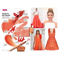 Coral by marciabackermendes on Polyvore featuring polyvore, fashion, style and Christian V Siriano