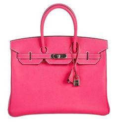 Hermes Rose Tyrien & Rubis Epsom Leather Special Candy Edition Birkin 35 Handbag Pink Satchel.