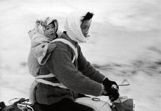 woman and child on a motorcycle, village utoru japan, maraini fosco