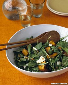 salad idea: maple roasted pumpkin salad. ooooh, maybe i will bring to thanksgiving this year.
