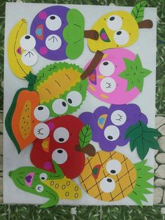 fruits and veggies collage craft