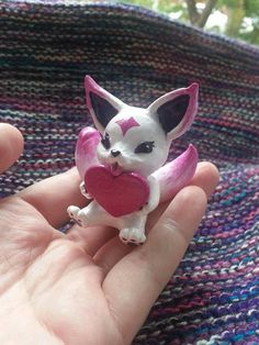 Kiko Star guardian ahri skin spirit  handmade polymer clay league of legends lol game by Ghostess