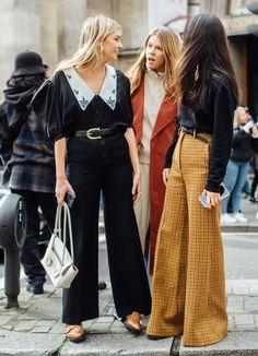 Cool Street Fashion, Look Fashion, Autumn Fashion, Fashion Outfits, Fashion Street Styles, London Street Fashion, London Fashion Weeks, 70s Fashion, Ladies Fashion