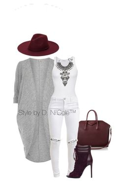 """Untitled #3286"" by stylebydnicole on Polyvore featuring Billie & Blossom, Givenchy, American Vintage, FiveUnits, JustFab and DYLANLEX"