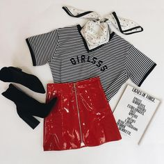 """205 Likes, 4 Comments - VERGE GIRL (@vergegirl) on Instagram: """"✚ GIRLS TEE / HEY TONIGHT SKIRT / MEET ME AT TWILIGHT BANDANA ✚ Need a weekend outfit?! We've got…"""""""