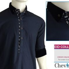 Chevin Shirley Eid Men Kurta Shalwar are trendy and stylish shalwar kameez for this festive occasion check out all the new designs launched by brand. Kurta Pajama Men, Kurta Men, Latest Salwar Kameez Designs, Mens Kurta Designs, Shalwar Kameez Pakistani, Sherwani For Men Wedding, Pathani Kurta, Kurta Style, Formal Shirts For Men