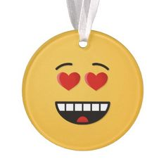 Smiling Face with Heart-Shaped Eyes Ornament - love gifts cyo personalize diy