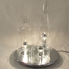 Find it at the Foundary - Alchemist Table Lamp - diam X tall Basement Lighting, Loft Interiors, Beach Bungalows, Cool Lamps, Wine Decanter, Barware, Alchemist, Sweet Home, Table Lamp