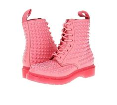 pastel pink dm DrMartens studded boots studs