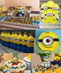Despicable Me Birthday Party Ideas Minions Birthday Theme, Minion Theme, 3rd Birthday Parties, Birthday Bash, Birthday Party Decorations, Happy Birthday, Birthday Cakes, Birthday Ideas, Despicable Me Party