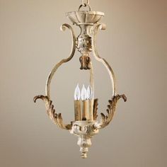 """Quorum Florence 16"""" Wide 3-Light Parisian White Chandelier - #W5432   LampsPlus.com"""