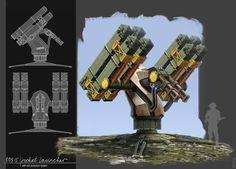 rocket launcher concept, Zahar Shinkarenko on ArtStation at https://www.artstation.com/artwork/rocket-launcher-concept