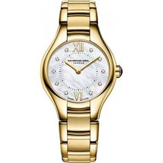 Raymond Weil Noemia MOP Dial GoldTone SS Quartz Ladies Watch 5124P00985 *** Want additional info? Click on the image.