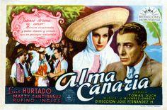 Alma canaria (1945) dirigida por el venezolano José Fernández. Película que recoge el canciones y música de las islas compuestas y arreglado por Juan Alvárez García