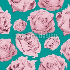 Art Rose Emerald created by Viktoryia Yakubouskaya offered as a vector file on patterndesigns.com