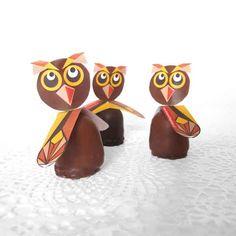 Party food for owl lovers :-) #party #owl #kids #food #traktatie  Knutsel je eigen uil traktatie voor de herfst, oogstfeest. Voor school, PSZ, creche of BSO!