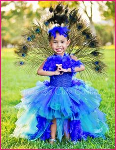 That's So Cute Boutique Tutu Dresses, Flower Girl Dresses, and Cute Costumes for Girls Peacock Flower Girl Dress, Peacock Tutu, Peacock Costume, Flower Girl Tutu, Flower Girl Dresses, Feather Tutu, Tulle Costumes, Tulle Dress, Tutu Dresses
