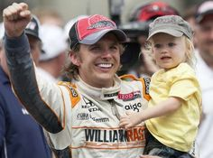 Dan Wheldon (98), with his win with son Sebastian, after winning his second Indianapolis 500.  Great article about Dan being honored at the 2012 Indy 500.