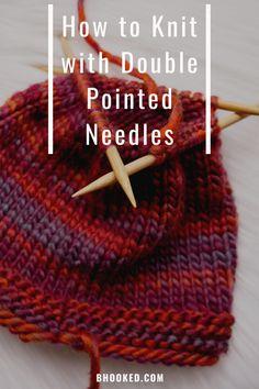 Double Pointed Knitting Needles, Circular Knitting Needles, Knitting Stitches, Knitting Videos, Knitting Projects, Beginner Knitting, Knitting Tutorials, Free Knitting, Chevron Crochet Patterns