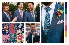Whether you are in search of some general design inspo, more pictures showing how our patterns look as finished products, or just need color matching suggestions, this gallery has it all. Wedding Ties, Our Wedding, Knotty Tie, Groom And Groomsmen, More Pictures, Picture Show, Wedding Designs, Floral Tie, Derby