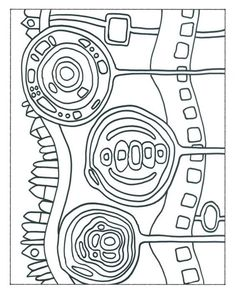 Copy Templates Free Hundertwasser Coloring Pages - Worksheet Gallery - Art Education ideas Primary School Art, Elementary Art, Art School, Friedensreich Hundertwasser, Art Sub Lessons, Art Sub Plans, Art Handouts, Motif Art Deco, Art Worksheets