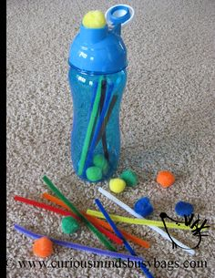 Toddler busy bag - sticks and stones
