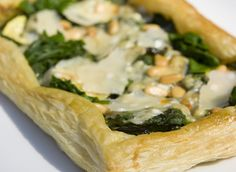 Spinach, Pesto and Parmesan Puff Tart