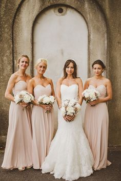 Like that soft blush pink hue on the bridesmaids dresses