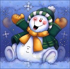 happy snowman going to try to do this today then. I will give it as a Christmas gift thank you Christmas Rock, Christmas Snowman, Christmas Projects, Winter Christmas, Christmas Ornaments, Merry Christmas, Frosty The Snowmen, Cute Snowman, Snowman Crafts