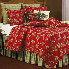 Holly Red Quilt Dark Red