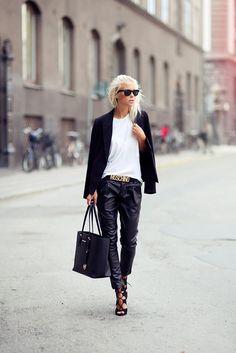 Shop this look on Kaleidoscope (pants, blazer, belt, sunglasses)  http://kalei.do/WuENuZrkK89lMQB5