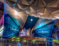 """Had to opportunity to shoot Spaceship Earth front this angle again with no one walking in. I did notice they added some pulsating lights around the signs…"""