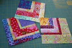 """string"" quilting tutorial - great way to use up some scraps"