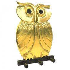 Dochsa Wooden Coat Hanger - Owl Gold https://dochsa.com