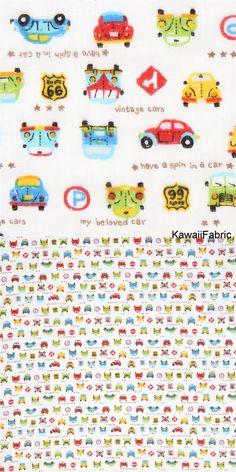 light cream double gauze fabric cute colorful car transport from Japan - Kawaii Fabric Shop Michael Miller, Kawaii, Cosmo, Textiles, Light Cream, Fabric Shop, Double Gauze Fabric, Cotton Lights, Fantasy