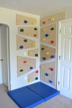 Kletterwand, Kinderzimmer, Kids diy indoor climbing wall.