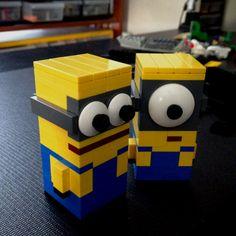 Cubic minions for Mr. Lego Minion, Minion Rock, Minion Movie, Minions Despicable Me, Lego Lego, Legos, Minion Birthday, Minion Party, Lego Jewelry