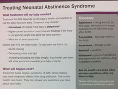 Treatment of Neonatal Abstinence Syndrome. #healthybaby #drugfree #healthylifestyle