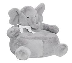 Not for me but Jennifer E. for Trenton...Love this for nursery decor/baby toys -Elephant Critter Chair #PotteryBarnKids