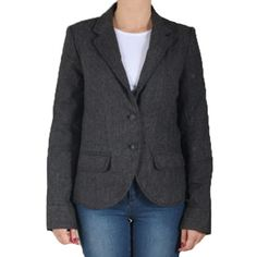 Sacou Dama FRESH MADE Julija Grey Blazer, Fresh, Jackets, Fashion, Down Jackets, Moda, Fashion Styles, Blazers, Fashion Illustrations