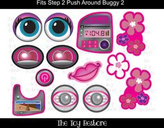 New Replacement Decals Stickers fits #Step2 #PushAroundBuggy 2 Car Wagon Girl with Flowers by #TheToyRestore on Etsy #Upcycle #Restore
