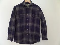 FIELD & STREAM Men's Shirts Size-M 100% Cotton Blue/Brown Long Sleeve Very Good #FIELDSTREAM #ButtonFront