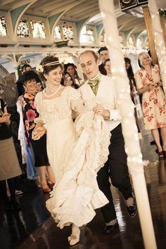 Matt & Lauren of Wearing History™  | photos by Michael Tyler | Edwardian inspired | Real Weddings