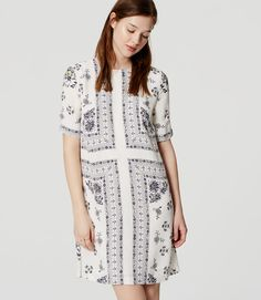 Primary Image of Meadow Floral Trapeze Dress