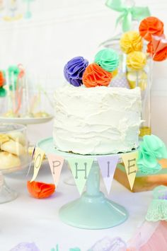 Pretty Pastel Baking Party by Sweet Bambini  Bloom Bunches & Poms by Dunne with Style