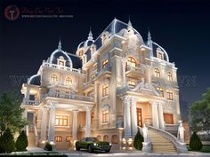 biệt thự 4 tầng phong cách cổ điển Classic House Design, House Front Design, Dream Home Design, Modern House Design, Luxury Staircase, Millionaire Homes, Mansion Designs, Dream Mansion, Mansion Interior