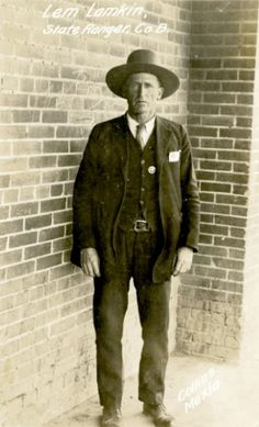 "Texas Ranger Lem Lamkin in the ""Roaring 20s"""